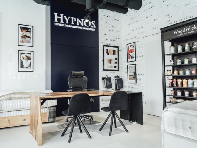 Projektowanie wnętrz biur i salonów sprzedaży. Hypnos Bed Polska.